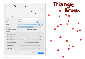 Triangle Brush by Mistfurious