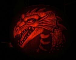 Dragon-head Pumpkin by nudge1