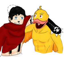 Mr Duckyman and Senior Pato by aLameUserName