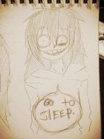 Jeff The Killer.Sketch 2-Go To Sleep. by MikaelBratLoni