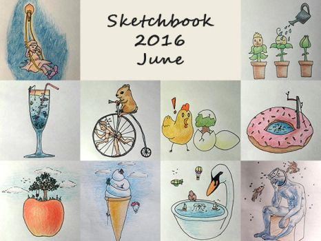 Sketchbook 2016 - June by Charmyto
