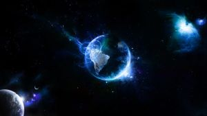 Earth Space Scape by wallybescotty