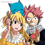Music, Nalu and Happy by juli95