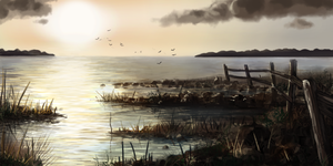 Speedpaint: Marsh by Chris-Garrett
