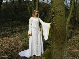 Eowyn White Wool gown 2 by Lady--Eowyn
