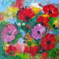Wild Poppies by karincharlotte
