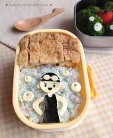 Swimmer Girl Bento lunch box by loveewa