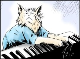 Keyboard Cat tribute by Jonzy