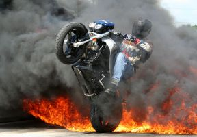 Fire Wheelie by laracroft