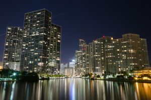 View from Brickell Key Bridge by EdoDodo