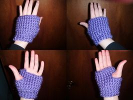 Purple Fingerless Gloves by Ambrosial-Wolf