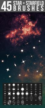 Star + Starfield Brushes by nadaimages