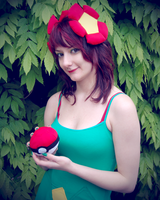 Bellossom Cosplay - Japantag 2013 by Crazy-Kiwii