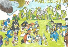 Angry Birds And Friends: April Fools Day!!! by FelixToonimeFanX360