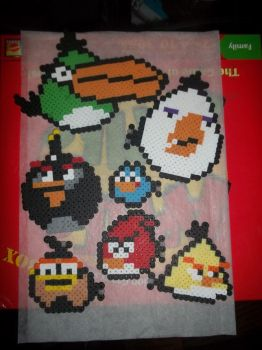 Angry Bird Perlers by Libbyseay