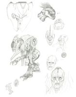 Halo 4 Sketch Dump 1 by Ninjaboomer44
