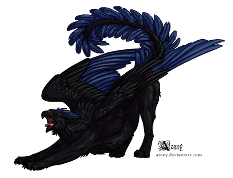 Black griffin by Azany