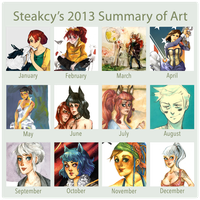 Summary of Art 2013 by inu-steakcy