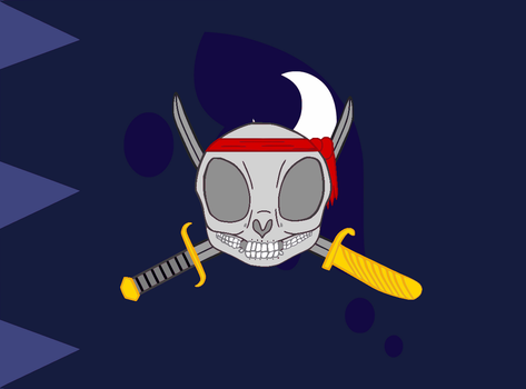 Lunar Pirate Flag (Updated) by Ahsokafan100