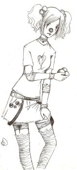 clown, not emo - uncolored by Agatha-greenapple
