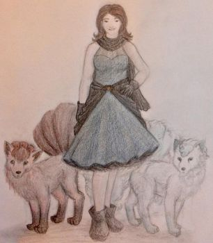 A Beauty and Her Foxes by CaseMayday