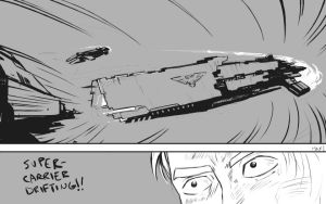 Supercarrier drifting by axian