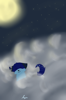 I love Playing in the clouds :3 by LordNative