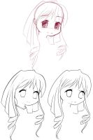 Lineart technique practice by Animeculture