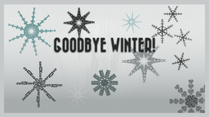 Snowflake Typography by MadamSteamfunk