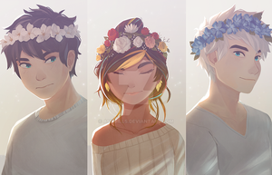 Eugh, Flower Crowns by AmiWills