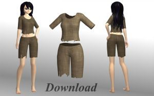 [MMD] Ragged female clothes [download] by Wampa842