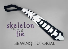 Sewing Tutorial - Skeleton Tie by SewDesuNe