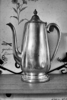 BW Silver Teapot Stock by Moon-WillowStock