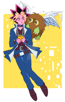 Yuugi + Winged Kuriboh by Josukespimphand