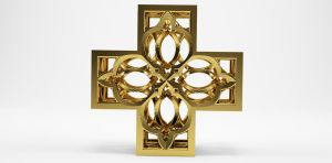 3D Printing Fractal Cross by nic022