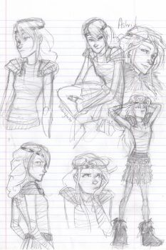 Astrid sketchies by burdge