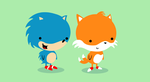 Sonic and Tails by KikiTheMonkey