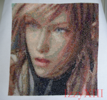 Sprite Stitch 2013 Quilt - FFXIII Lightning Patch by IzzyXIII
