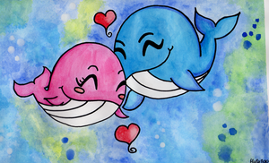 Loving Whales by HerMajestyTheQueen