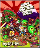 ANGRY BIRDS - New Years 2012 by MariposaBullet