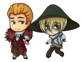 Cullen and Cole chibis by Catgirlemi7