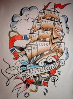Amsterdam Ship Flash by miss-aprilia