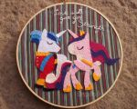Love Will Give You Strength MLP hoop by PastYourPorchlight