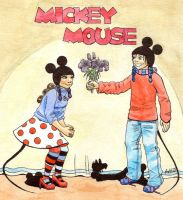 Mickey and Minnie Comic Cover by lilfirebender