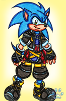 Sonic cosplaying as Sora by jayfoxfire