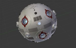 Jedi Remote 1 Free Blender 3D Model for ver 2.49b by PixelOz