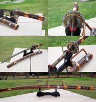 Steampunk Katana by Ronin-ink