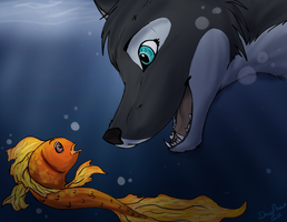 Underwater meeting by BlackRayser