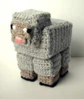 Crochet Minecraft Sheep by meekssandygirl
