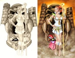 Comishart's Teela - Colors - Before and After by TracyWong